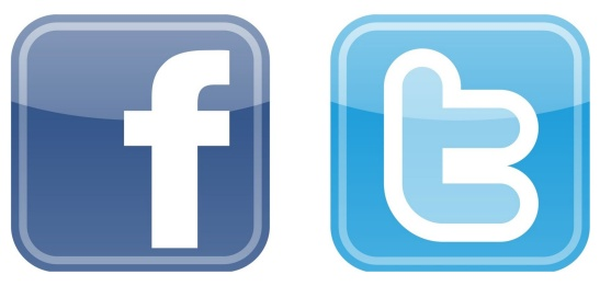 Facebook and Twitter Logo